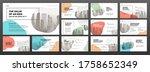 business powerpoint... | Shutterstock .eps vector #1758652349