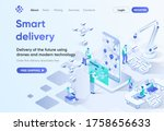 smart delivery isometric...