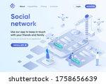 social network isometric...