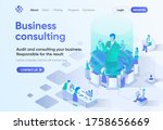 business consulting isometric...