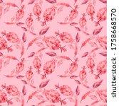 watercolor seamless pattern... | Shutterstock . vector #1758668570