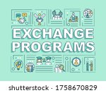 exchange programs word concepts ...