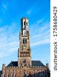Front View Of Bruges Belfry....