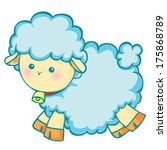 cute  little lamb | Shutterstock .eps vector #175868789