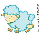 happy little lamb | Shutterstock .eps vector #175868963