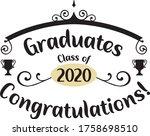 congratulations graduates 2020. ... | Shutterstock .eps vector #1758698510