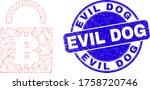 web mesh bitcoin lock icon and...   Shutterstock .eps vector #1758720746