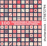 100 fashionable vintage vector... | Shutterstock .eps vector #175872794