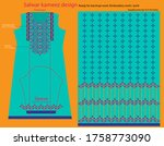 salwar kameez artwork for ready ... | Shutterstock .eps vector #1758773090
