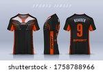 t shirt sport design template ... | Shutterstock .eps vector #1758788966