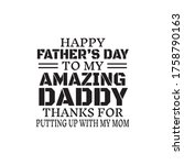 happy father's day to my... | Shutterstock .eps vector #1758790163