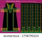 salwar kameez artwork for ready ... | Shutterstock .eps vector #1758790223