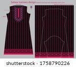 salwar kameez artwork for ready ... | Shutterstock .eps vector #1758790226