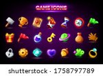mobile game icons set. gui...