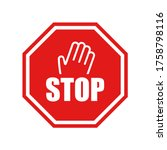 Stop Vector Sign With Hand