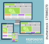 responsive web design concept... | Shutterstock .eps vector #175880270