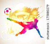 bright rainbow silhouette... | Shutterstock .eps vector #175880279