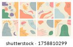 a set of eight abstract... | Shutterstock .eps vector #1758810299