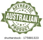 australian product grunge green ... | Shutterstock . vector #175881323