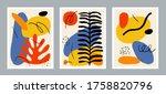 set of creative minimalism... | Shutterstock .eps vector #1758820796