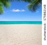 beautiful beach and tropical sea   Shutterstock . vector #175882148