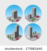 set of vector icons of... | Shutterstock .eps vector #175882640