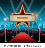 star neon sign for text banner | Shutterstock .eps vector #1758841193