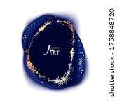 dark blue ink  marble ...   Shutterstock .eps vector #1758848720