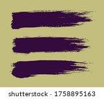 set of a violet vector... | Shutterstock .eps vector #1758895163