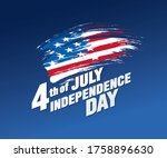 fourth of july independence day ... | Shutterstock .eps vector #1758896630