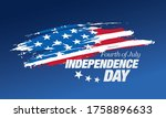 fourth of july independence day ... | Shutterstock .eps vector #1758896633