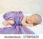 Tiny Sleeping Newborn Baby...