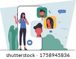 flat people character business...   Shutterstock .eps vector #1758945836