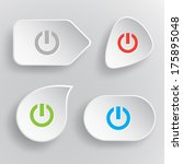 switch element. white flat... | Shutterstock . vector #175895048