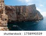 White Cliff On Capo Caccia...