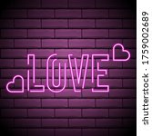 Neon Inscription Love. Neon...