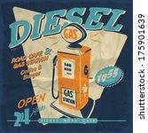 Vector Illustration.gas Station ...