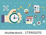 vector flat concept of process
