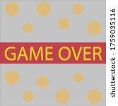 game over screen vector design.