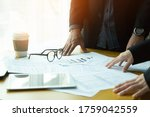 young business team working in... | Shutterstock . vector #1759042559