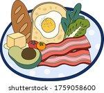 cartoon of healthy breakfast.... | Shutterstock .eps vector #1759058600