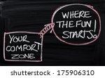 blackboard concept for leaving... | Shutterstock . vector #175906310