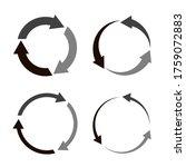 vector circular arrow icon....