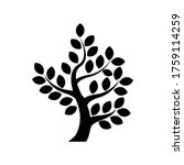 tree silhouette icon isolated... | Shutterstock .eps vector #1759114259