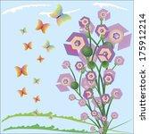 abstract summer geometric... | Shutterstock .eps vector #175912214