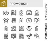 promotion icon set. collection...   Shutterstock .eps vector #1759130249