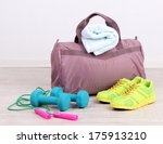 sports bag with sports... | Shutterstock . vector #175913210