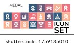 medal icon set. 19 filled medal ... | Shutterstock .eps vector #1759135010