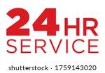 24 hour service icon   tech... | Shutterstock .eps vector #1759143020