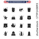 big pack of 16 usa happy... | Shutterstock .eps vector #1759143893